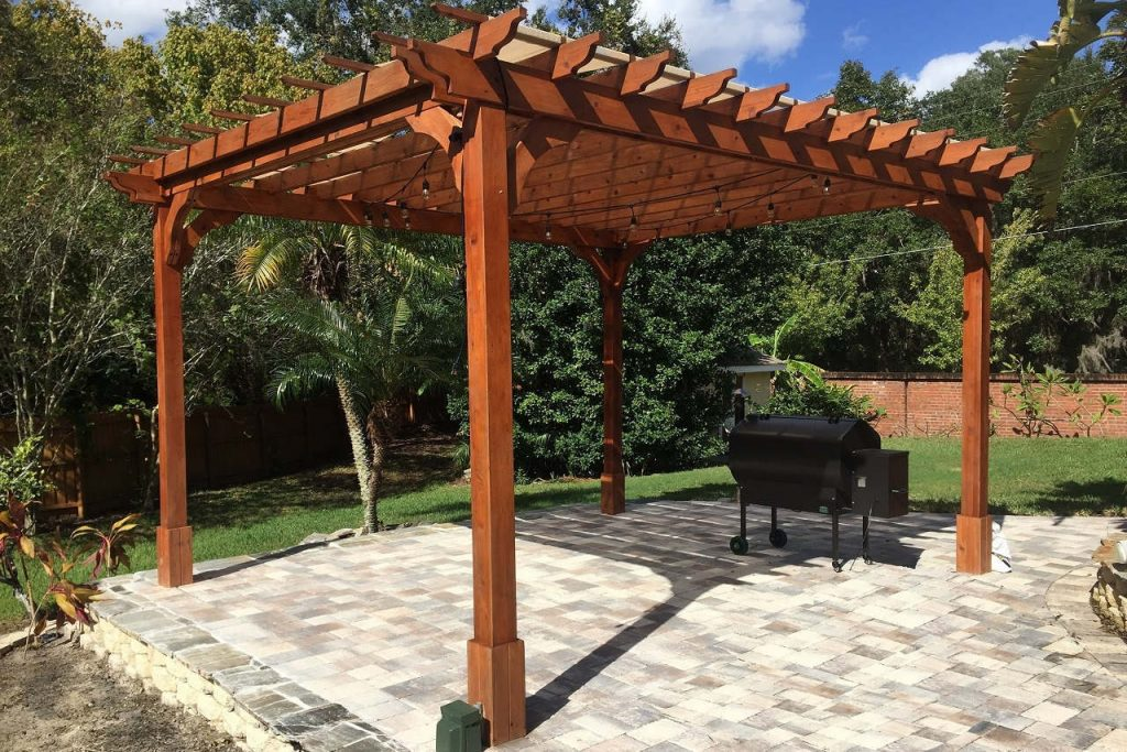 Of A Do-It-Yourself Pergola Kit